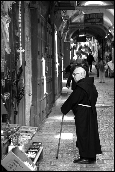 Christian priest in Jerusalem