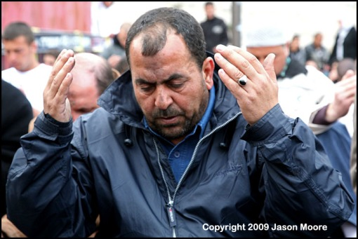 Palestinian Muslim Praying in Jerusalem