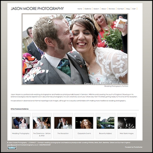 Jason Moore Photography Website