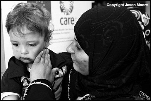 Palestinian Mother and Child